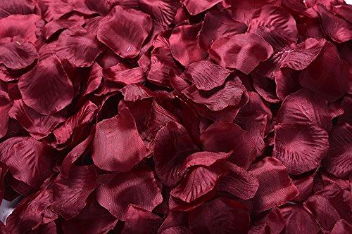 Magik 1000~5000 Pcs Silk Flower Rose Petals Wedding Party Pasty Table Decorations, Various Choices (Burgundy, 4000)