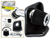 Cold Air Intake System with Heat Shield Kit + Filter Combo BLACK Compatible For 14-17 Mazda 3 / Mazda 6 2.5L L4