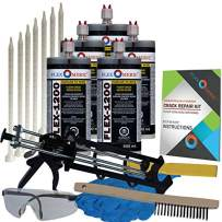 Concrete Floor Crack Repair Kit - Ultra Low Viscosity Polymer - FLEXKIT-1200-50