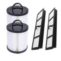 SaferCCTV Replacement EF6 HEPA Filter and Washable Reusable Cup Filter Vacuum Filter DCF-21 Replace#67821, 68931, 68931A, EF91 Replacement for Eureka Airspeed AS1000 Series Upright Vacuum Cleaners (2 Set)