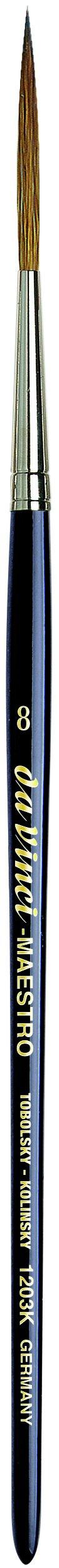 da Vinci Watercolor Series 1203k Maestro Paint Brush, Long Needle Liner/Rigger Kolinsky Red Sable, Size 8 (1203K-08)