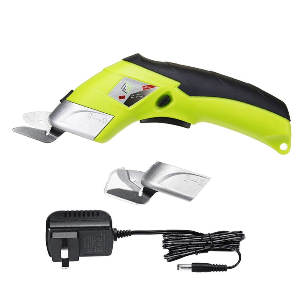 Loboo Idea Lithium-Ion Electric Power Scissors with Safety Switch & Battery and 2 x Cutting Blades. Up to 120 Minutes Continuous Cutting Power per Charge 3.6V Multi-Cutter 2000 mAh