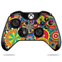 MightySkins Skin Compatible with Microsoft Xbox One or One S Controller - Flower Wheels | Protective, Durable, and Unique Vinyl wrap Cover | Easy to Apply, Remove, and Change Styles | Made in The USA
