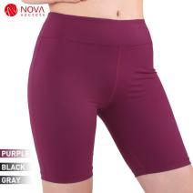 JBM international Women's Yoga Workout Short Pants Capri Leggings for Gym Clothes Juniors Cropped Skirted