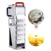 JIAWANSHUN 35L/9Gallons Built in Oil Filtering Machine Fried Oil Filter Oil Fryer Filtration System for Fried Chicken Shop 120-180℃ Oil (110V)