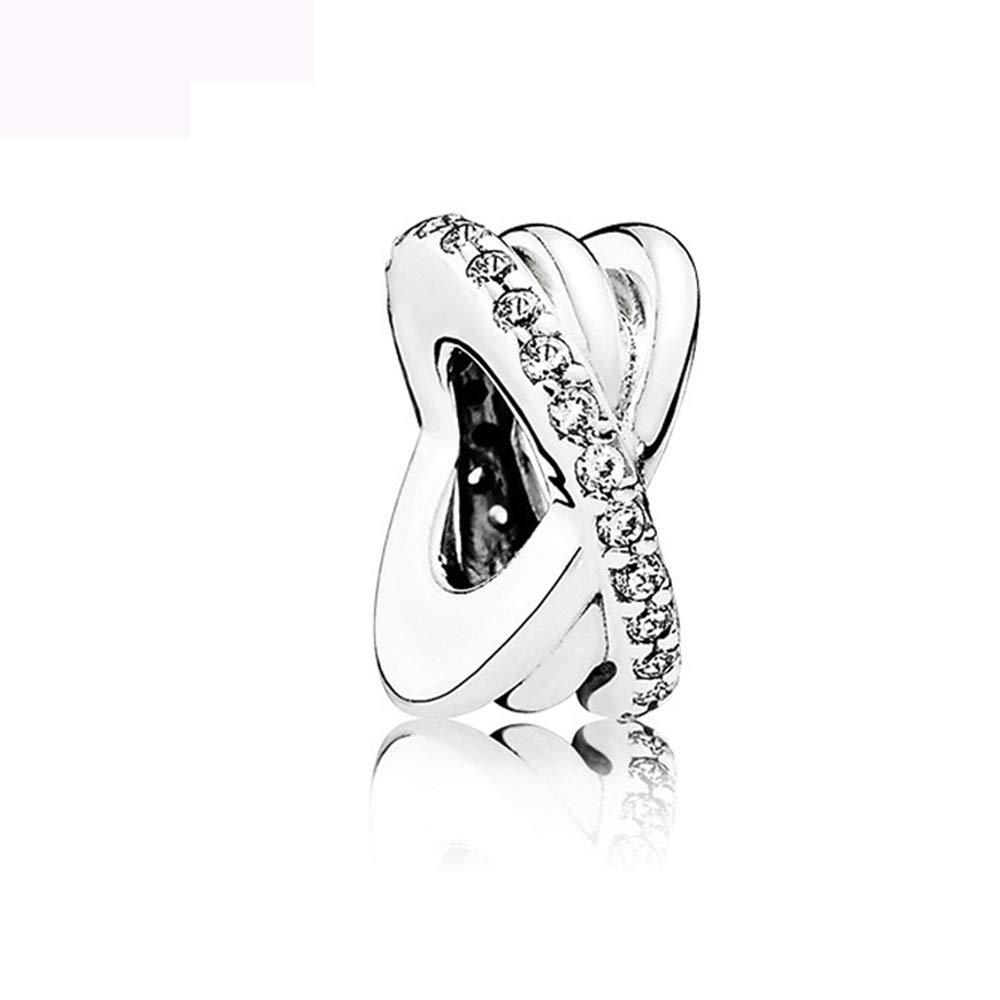 Charm for Bracelets Pandora Charms Golden Heart Alphabet Dangle Beads for Bracelets & Necklaces-Cross Beads