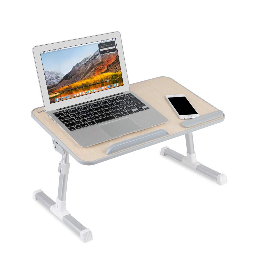 Laptop Stand,Laptop Desk for Bed,Laptop Bed Tray Table,Lap Desks for Adults,Lap Desk for Kids,Laptop Lap Desk,Adjustable Laptop Stand,Laptop Stand for Desk-Wood