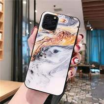 Cocomii Chamfered Edge Glass Marble iPhone 11 Pro Max Case, Slim Glossy Soft TPU Silicone Rubber Gel Tempered Glass Back 360° Flat Rim Bumper Cover for iPhone 11 Pro Max 6.5 Inch 2019 (Earth Gray)