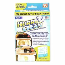 Hurriclean Automatic Toilet Tank Cleaner for Hands Free Removal of Stains, Rust and Mineral Deposits with No Chlorine or Harsh Chemicals, 1 Pack