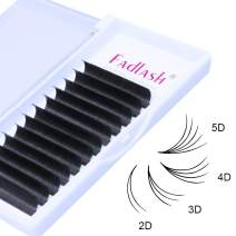 Easy Fan Volume Lashes Extensions 0.05mm 0.07mm Self Fanning Eyelash Extensions 2D~10D C/D/DD Curl Volume Eye Lash Extensions 8-20mm Length by FADLASH (0.07-D, 12mm)