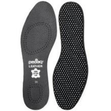 Pedag 2810 Vegetable Tanned Leather Insole Has Effective Active Charcoal Odor Protection, Black, Women's 9