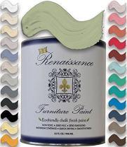 Retique It Chalk Finish Paint by Renaissance - Non Toxic, Eco-Friendly Chalk Furniture & Cabinet Paint - 32 oz (Quart), Terre Verte