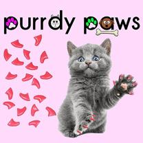 Purrdy Paws Soft Nail Caps for Cat Claws Soft Pink