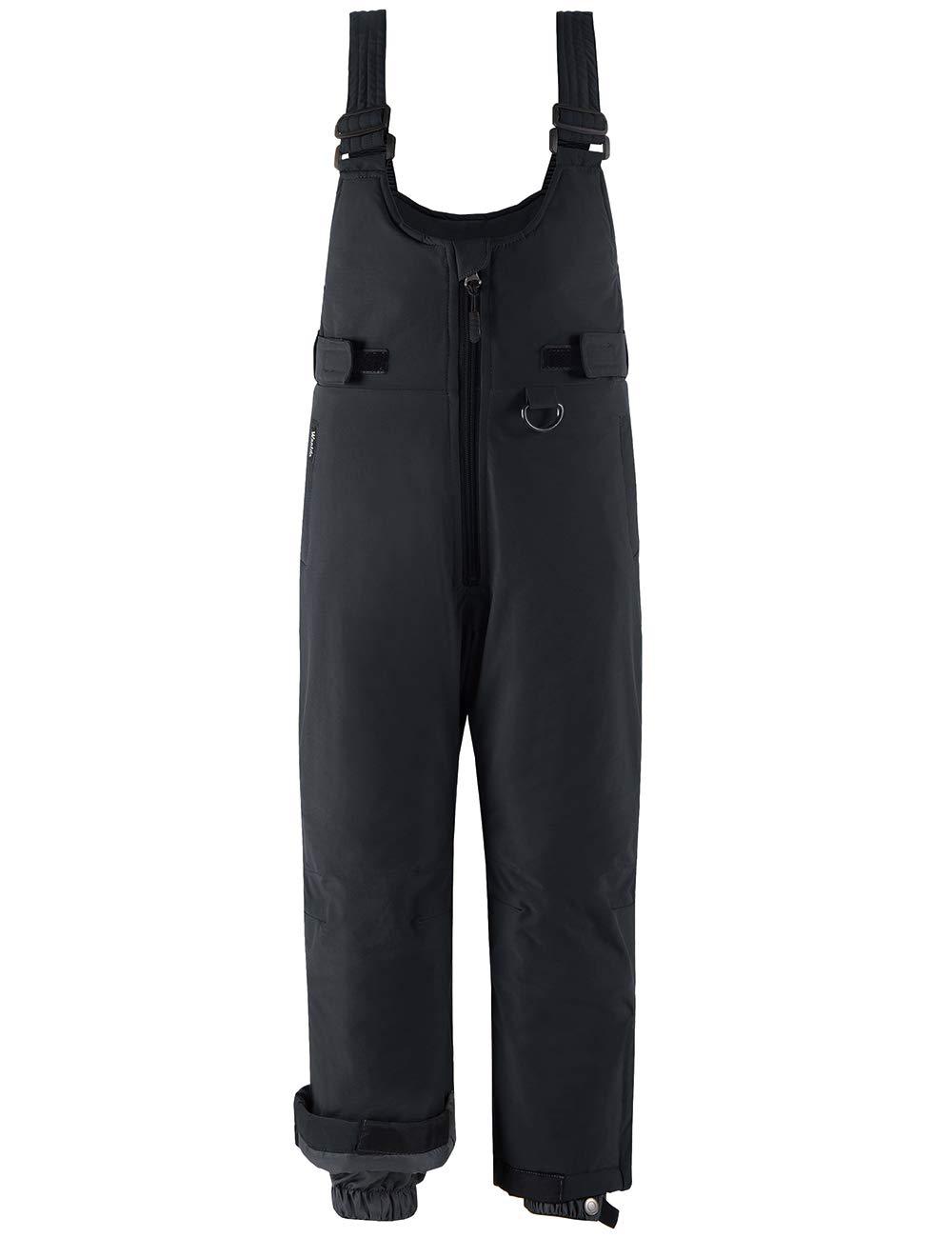 Wantdo Boy's Waterproof Skiing Bibs Fleece Lined Snow Pants