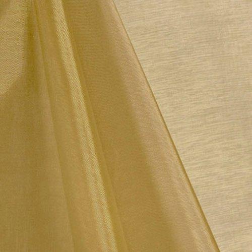 "mds Pack of 90 Yard Bridal Solid Sheer Organza Fabric Bolt for Wedding Dress,Fashion, Crafts, Decorations Silky Shiny Organza 44""- Champagne Gold"