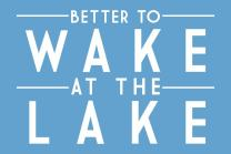 Better to Wake at the Lake - Simply Said (16x24 Giclee Gallery Print, Wall Decor Travel Poster)