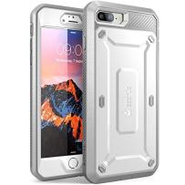 SUPCASE Unicorn Beetle Pro Series Case Designed for iPhone 7 Plus, iPhone 8 Plus Case, with Built-in Screen Protector Full-Body Rugged Holster Case for iPhone 7 Plus/iPhone 8 Plus (White)