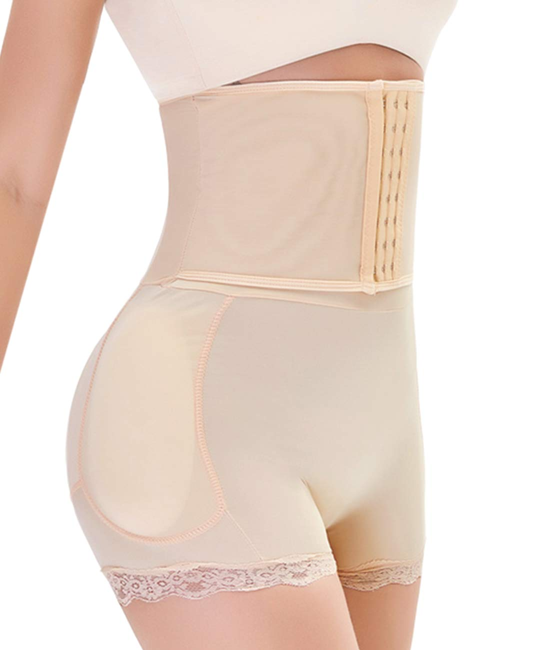 Women Tummy Control Shorts Body Shaper Padded Butt Briefs Booster Hip Enchancer Underwear Slimming Shapewear