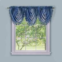Achim Home Furnishings Ombre Waterfall Curtain Valance .1 Pack (Blue)