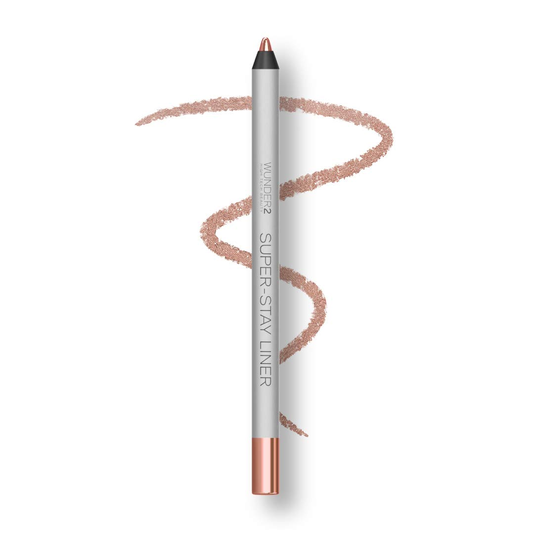 WUNDER2 SUPER-STAY LINER Long-Lasting & Waterproof Colored Eyeliner, Metallic Rose Gold