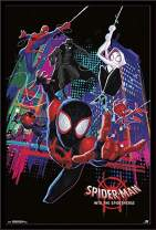 "Trends International Comics Movie Enter Marvel Cinematic Universe Man: Into The Spider-Verse-Group, 22.375"" x 34"", Black Framed Version"