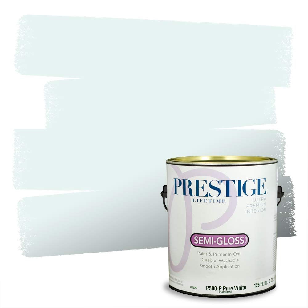 Prestige, Blues and Purples 7 of 8, Interior Paint and Primer In One, 1-Gallon, Semi-Gloss, North Wind