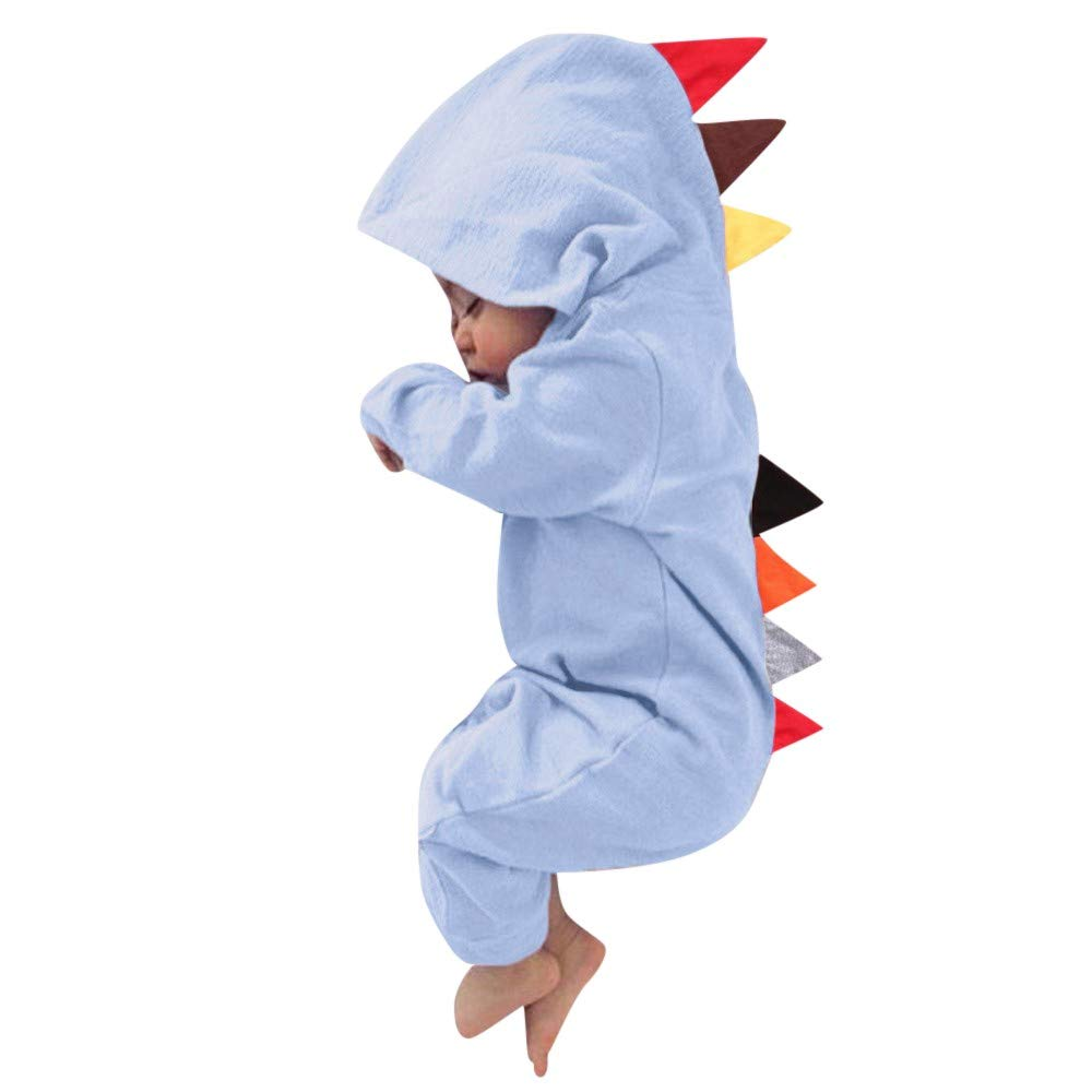 Lanhui Sunny Infant Baby Boy Girl Dinosaur Hooded Romper Jumpsuit Outfits Clothes