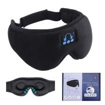 Bluetooth Sleep Eye Mask for Men Women 3D Contoured Music Weighted Eye Sleep Headphones for Blackout Sleeping Blindfold with Wireless Headphones Comfort Eye Covers Pillow for Side and Light Sleepers