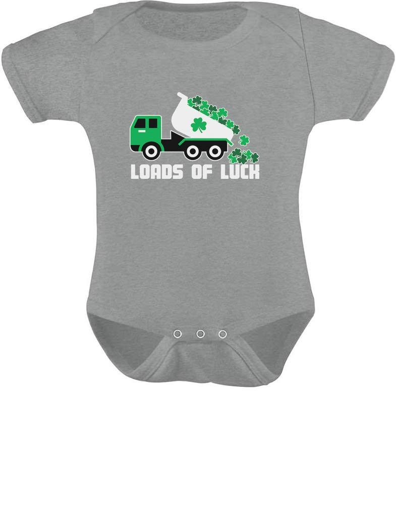 Tstars - St Patrick's Day Tractor Clover Loads of Luck Baby Bodysuit