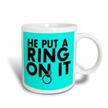 3dRose mug_194347_3 Keep Calm And Stay Positive Navy Mug, 11 oz