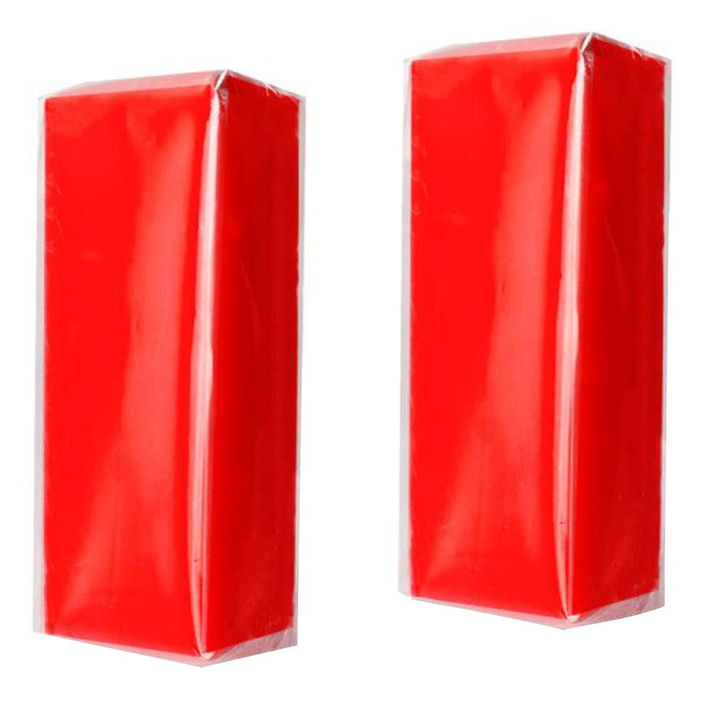 YGDZ Auto Clay Bars, 2pcs Auto Detailing Car Clay Bars, 100g × 2 Wash Bar Cleaner for Car Vehicles, Red