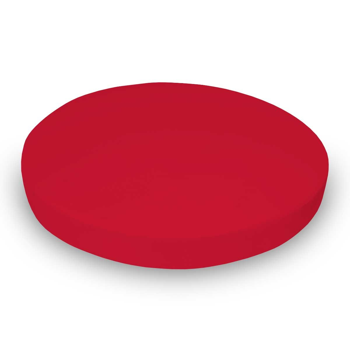 SheetWorld 100% Cotton Jersey Round Crib Sheet, Solid Red, 42 x 42, Made In USA