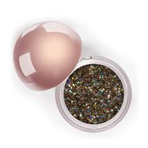 LA Splash Cosmetics Metallic Loose Glitter Champagne Eyeshadow Powder for Carnival/Masquerade/Party/Holiday - Crystallized Glitter (Angel's Tip)