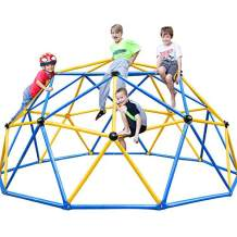 Zupapa 2021 Upgraded Dome Climber with 2-Year Warranty, Decagonal Geo Jungle Gym Supporting 735LBS with Much Easier Assembly, a Lot of Fun for Kids (Blue)