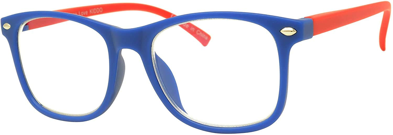 KIDDO Glasses Blue Light Blocking and Filtering EyeGlasses For Kids Premium Protection Anti Screen Glare Lens Filtering 90% of Computer, Tablet and Phone emitted Bluelight (Blue)