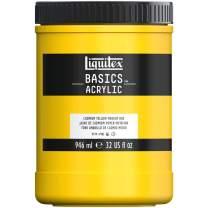 Liquitex BASICS Acrylic Paint, 32-oz jar, Cadmium Yellow Medium Hue