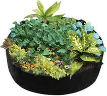 Feeke Extra Large Fabric Raised Planting Bed, Round Raised Planter Grow Bag Garden Bed Bag for Herb Flower Vegetable Plants (Dia 24 x H 8, Black)