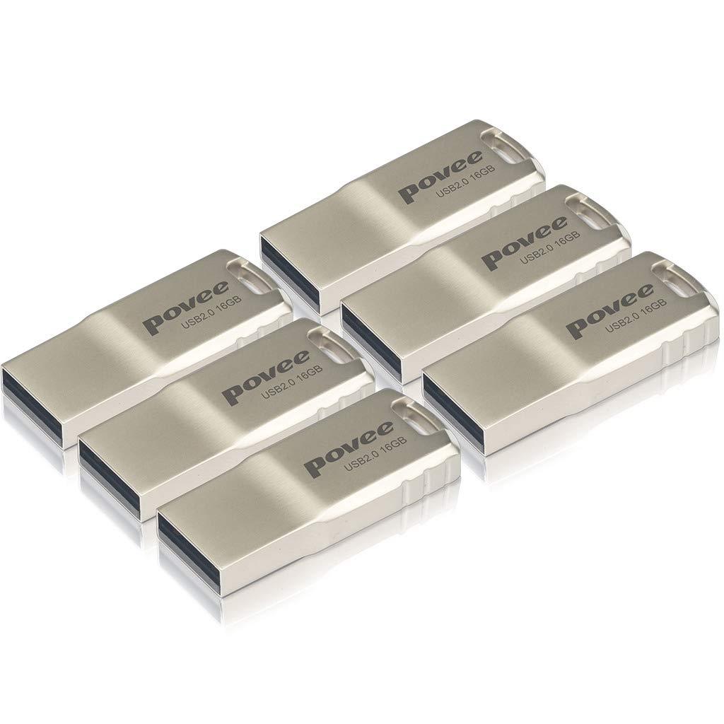 USB2.0 Flash Drive,MLC Flash 6 Pack of Tiny Body Full Metal Housing Pen Dives Waterproof Thumb Drive 32GB