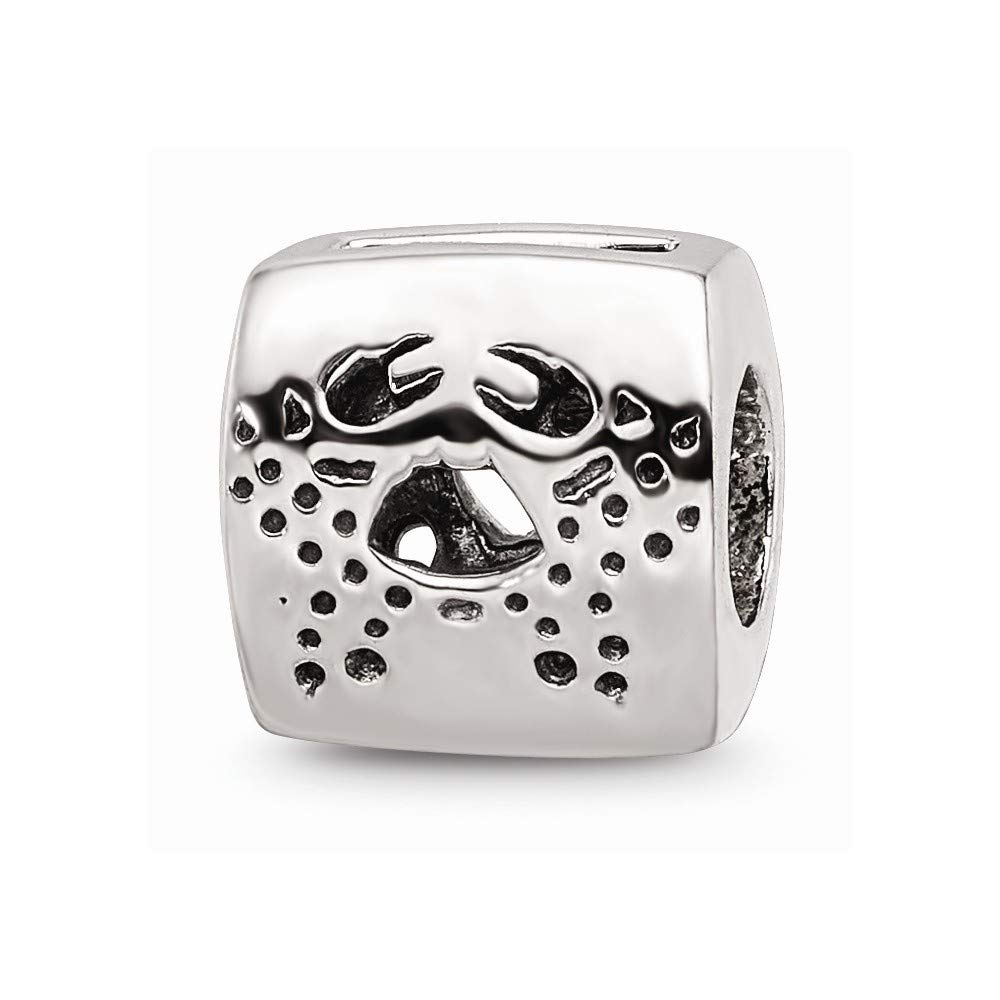 925 Sterling Silver Charm For Bracelet Cancer Zodiac Bead Fine Jewelry For Women Gifts For Her