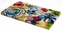 "Handwoven, Extra Thick Doormat   Durable Coir, Easy Clean, Stylish   Entryway Door mat for Patio, Front Door   Decorative All-Season   Watercolor Floral   18"" x 30"" x 1.60"""