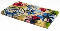 "Handwoven, Extra Thick Doormat | Durable Coir, Easy Clean, Stylish | Entryway Door mat for Patio, Front Door | Decorative All-Season | Watercolor Floral | 18"" x 30"" x 1.60"""