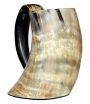 5MoonSun5's vikings Hand Made 50oz - Natural Finish Drinking Horn Tankard Game of Thrones With This Large Ale Stein - A Perfect Present For Real Men (dhok-558)