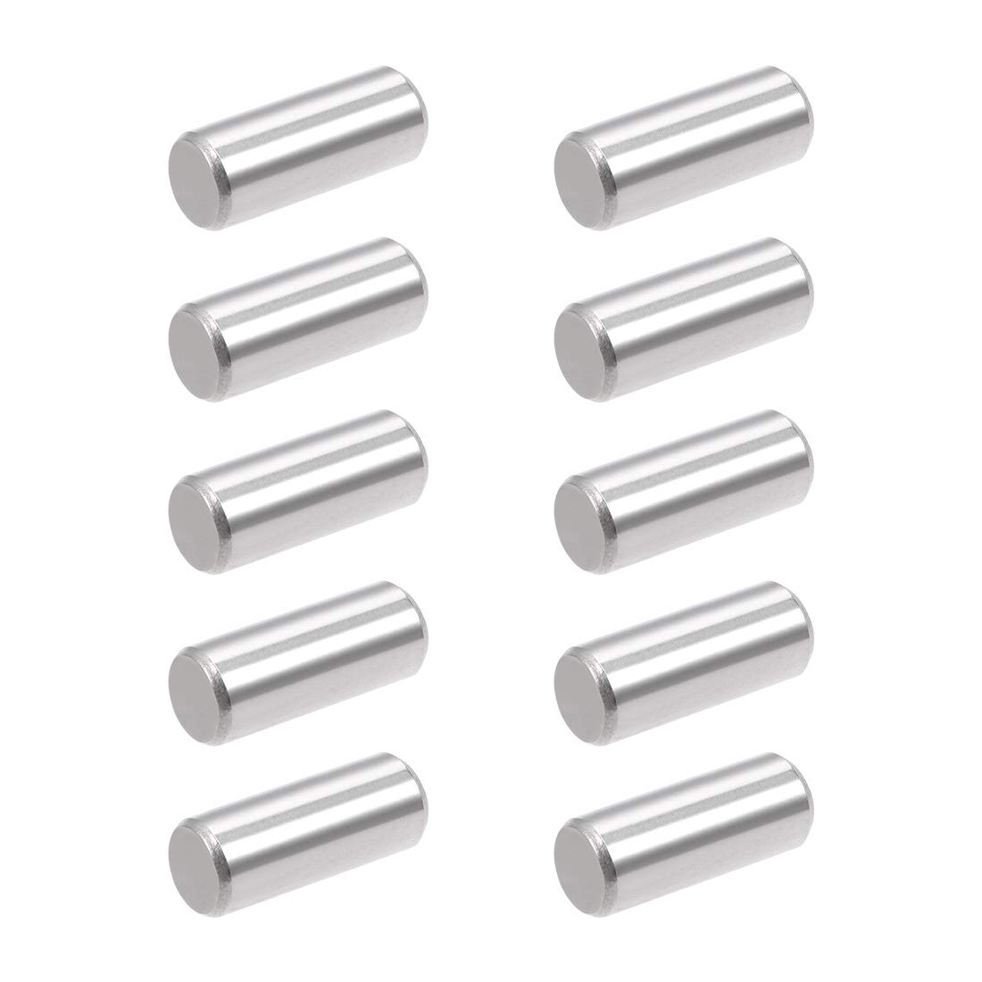 uxcell 10Pcs 10mm x 25mm Dowel Pin 304 Stainless Steel Wood Bunk Bed Dowel Pins Shelf Pegs Support Shelves Silver Tone
