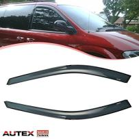 AUTEX 2Pcs Tape-on Window Visor Compatible with Dodge Caravan 1996-2007 Compatible with Grand Caravan 1996-2007 Compatible with Town & Country 1996-2007 Wind Deflector