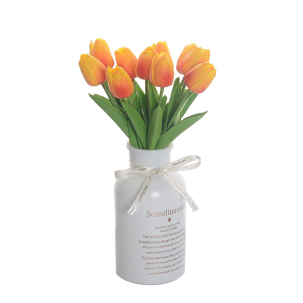 Eseres 10 pcs Artificial Flowers Real Touch Tulips Flowers for Party Wedding Home Decoration