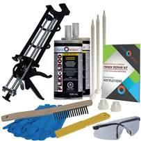 Concrete Floor Crack Repair Kit - Low Viscosity Polyurethane - FLEXKIT-1300-20