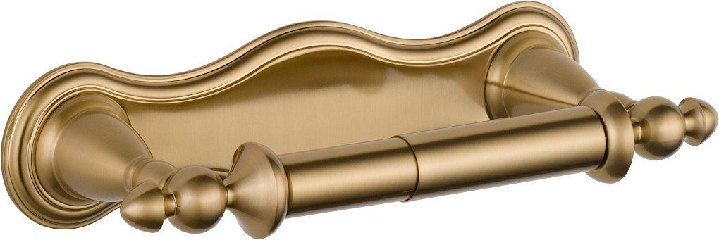 Delta Faucet Bathroom Accessories 75050-CZ Victorian Pivoting Toilet Paper Holder, Champagne Bronze