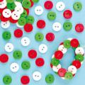Baker Ross Christmas Red, White & Green Mini Buttons Value Pack — Kids' Crafts and Art Projects, Cards, Projects, and Decorations (Pack of 250)
