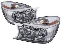HEADLIGHTSDEPOT Chrome Housing Halogen Headlights Compatible With Buick Rendezvous 2004-2007 Includes Left Driver and Right Passenger Side Headlamps