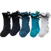 Nictrue Baby Knee High Socks for Girls Stockings Cotton Bow Toddler Princess Ruffle Stockings Long Socks For Baby Girls